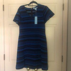 NWT Draper James stripe navy blue dress. Large